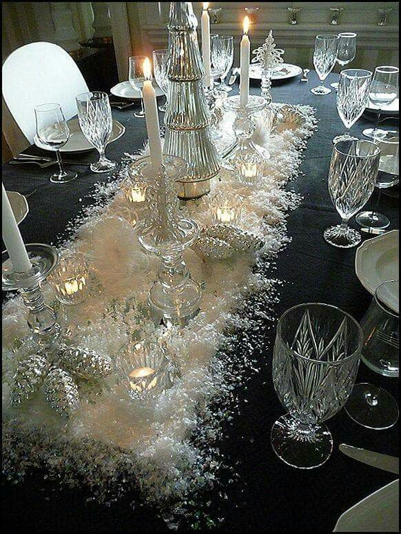 Silver Christmas table | Tablescape | Pinterest | Silver christmas ...