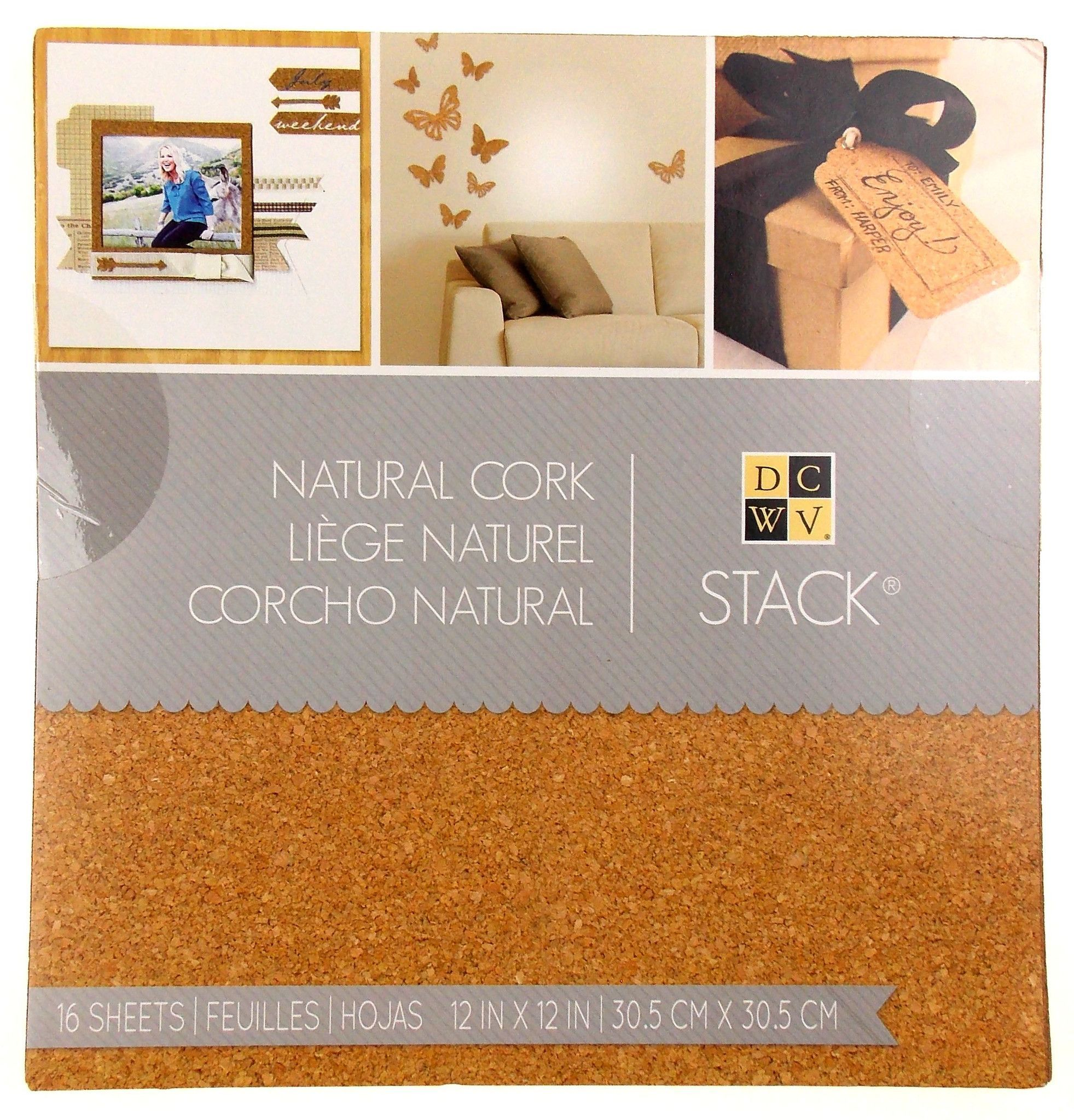 bridal shower invitation ideas craft%0A Stack Natural Cork Book    Sheets     x     Crafts DCWV Wedding Invitations  Favors