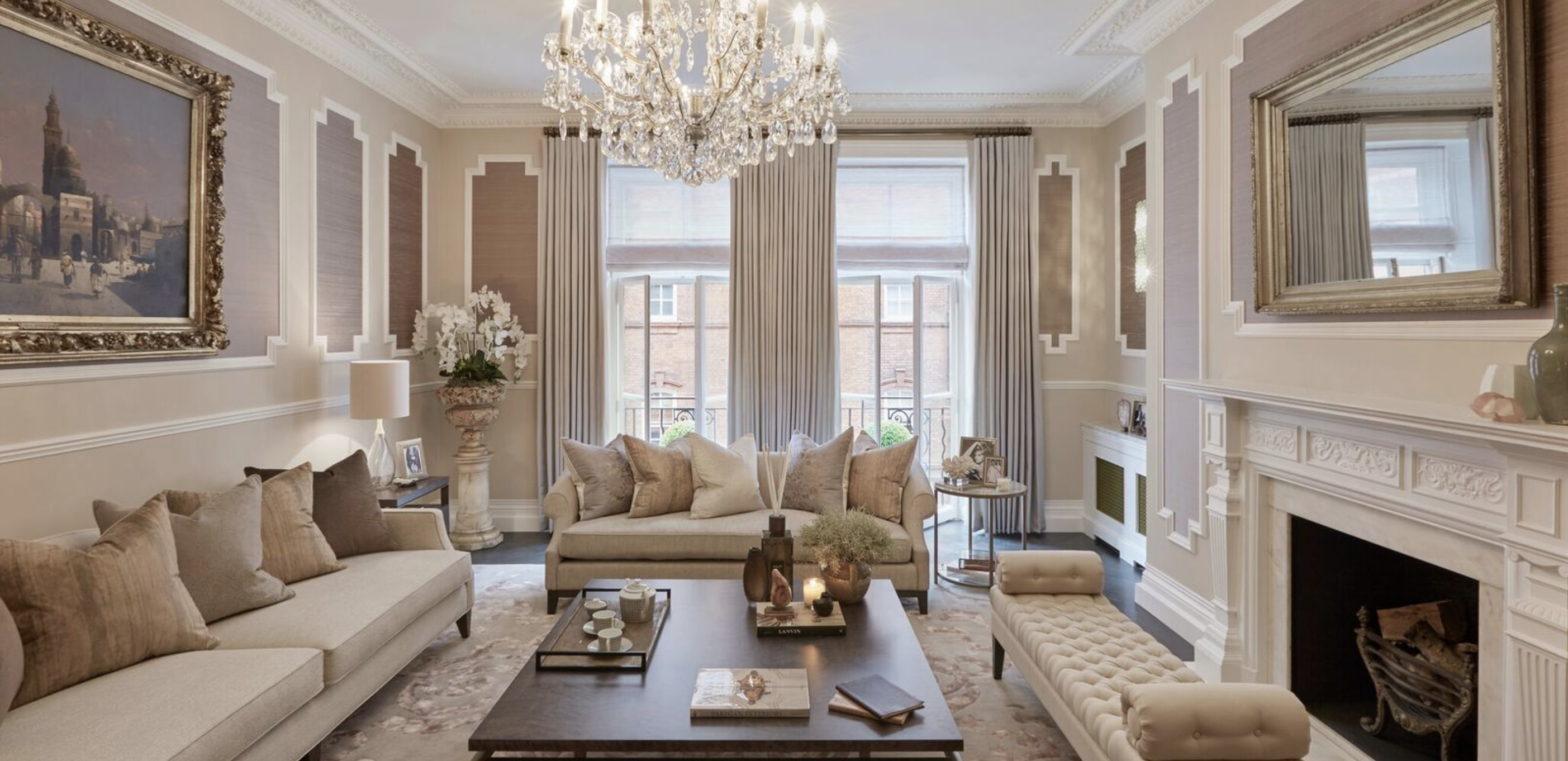 Luxurious Elegant And Big Living Room Designed By Sophie Paterson