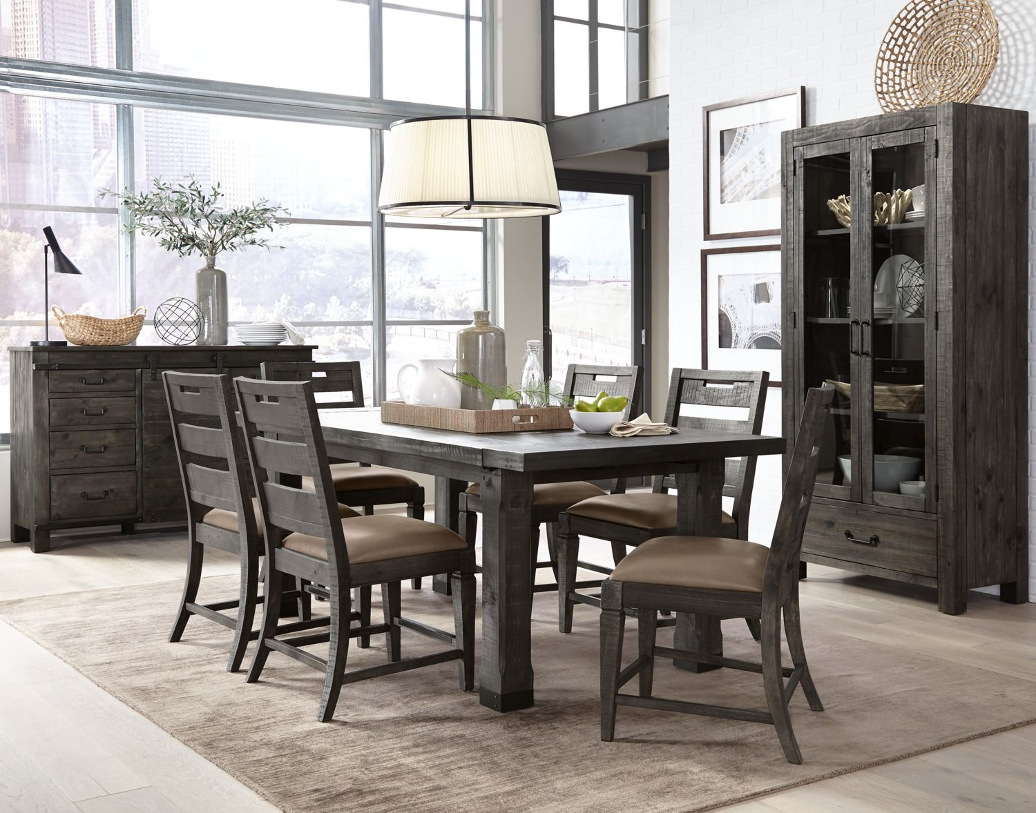 Bring A Rustic, Forest Atmosphere To Your Dining Room With This Calistoga  Nine Piece