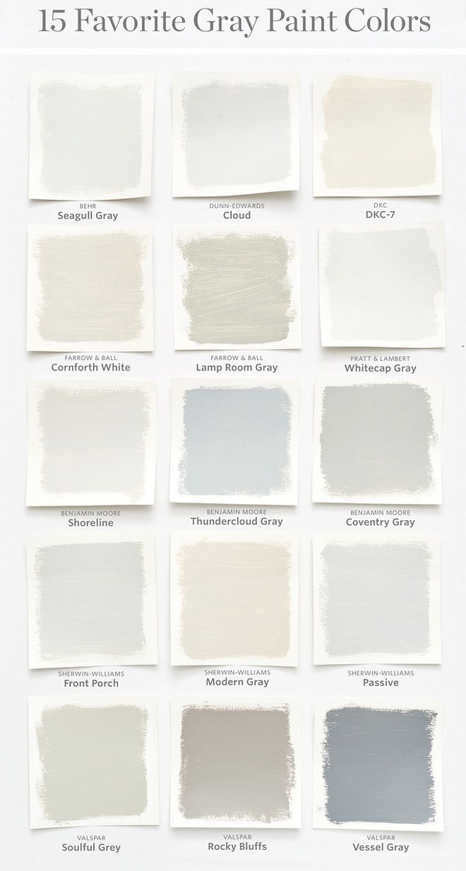 Favorite Gray Paint Colors Seagull Behr Cloud Dunn Edwards Dkc 7 Cornforth White Farrow And Ball Lamp Room