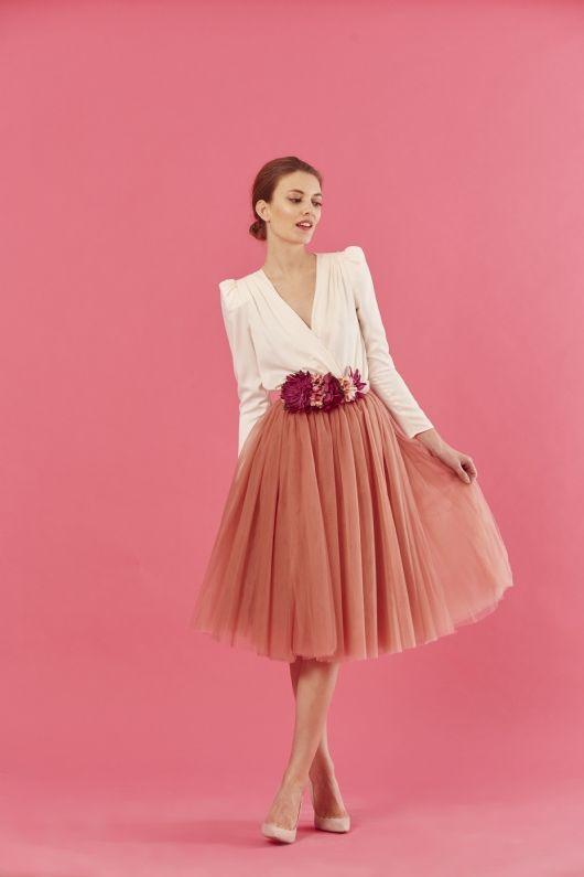 d6e8d5255 Coosy - FALDA CARRIE ROSA EMPOLVADO | to wear XXXII en 2019 | Falda ...