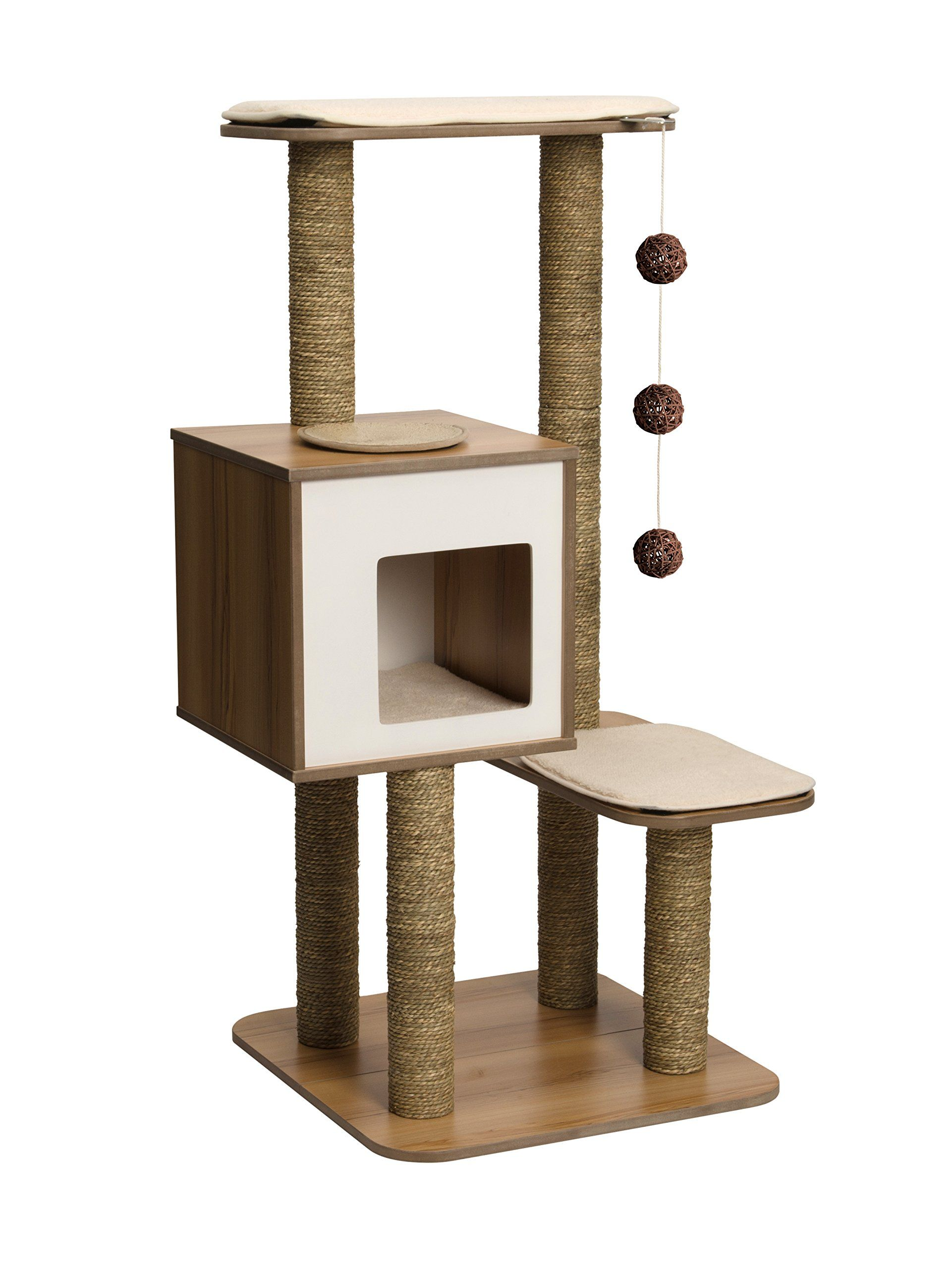 Amazon Com Vesper Cat Furniture Walnut V High Base Pet