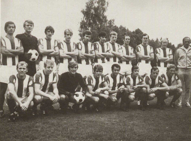 1970 71 Bayern Munich Arriba izq a der Gerd Muller Sepp Maier
