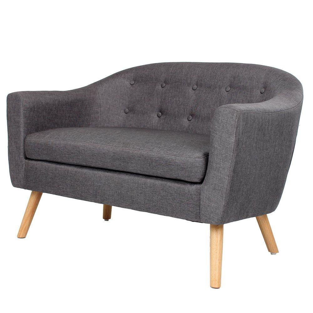 teen girl bedrooms fch modern gray fabric love seat mid century rh pinterest com