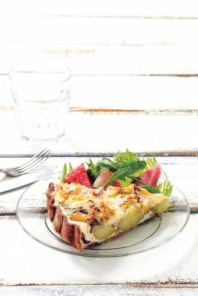 Peruna-anjovispiirakka | K-ruoka