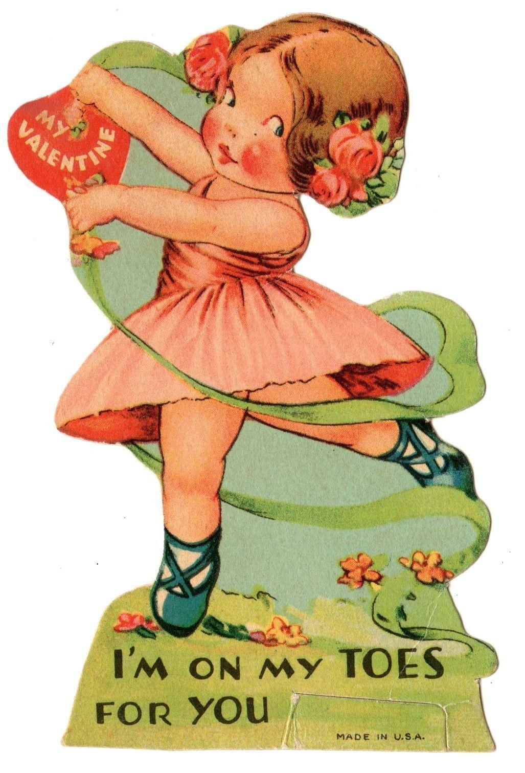Ballerina Ballet Dancer Says IM on My Toes for You  Vintage