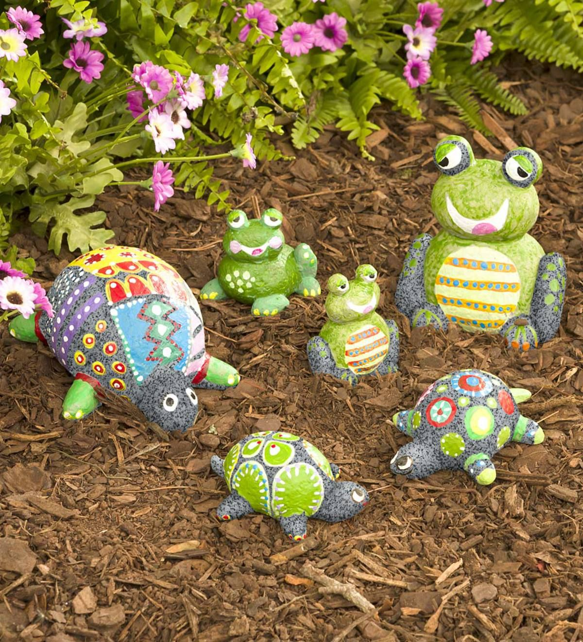 Color Pops Paint Your Own Rock Pets Turtles And Frogs 12 Ages Hearthsong Turtle Painting Turtle Painted Rocks Rock Decor