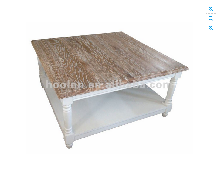 White Washed Coffee Table Family Room Man Cave