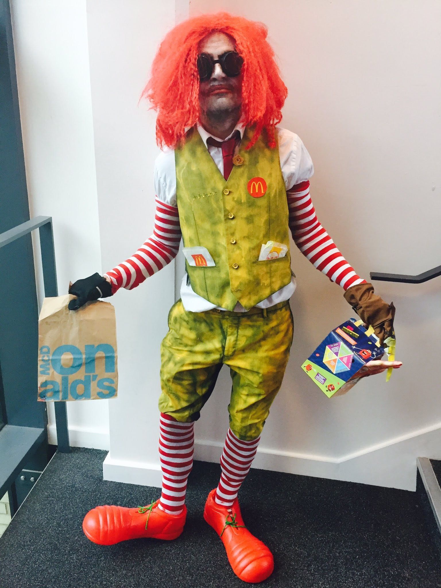 Scary clown mask by Dennie and Stacie Lowe on Micky D's