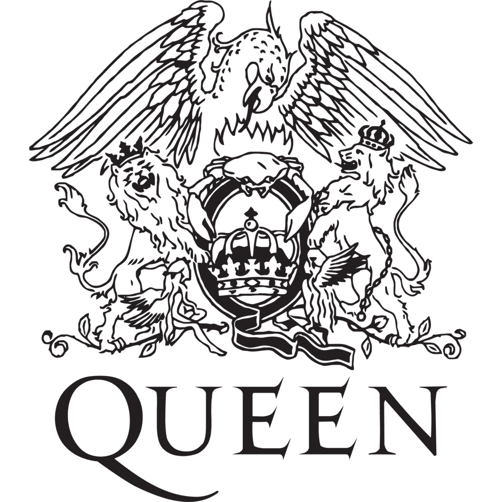 Drawing Lines Band : Queen logo b w greatest band logos ever pinterest