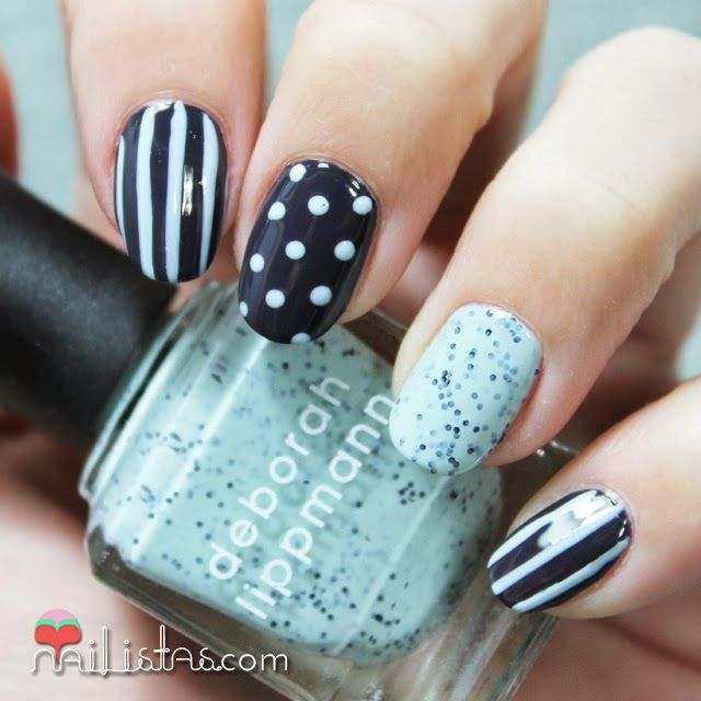 Nail art Mix & Match | Decoración de uñas fácil | Uñas | Pinterest ...