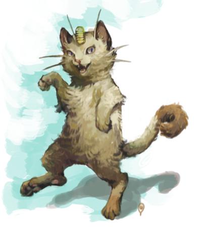 Meowth - realistic Pokemon