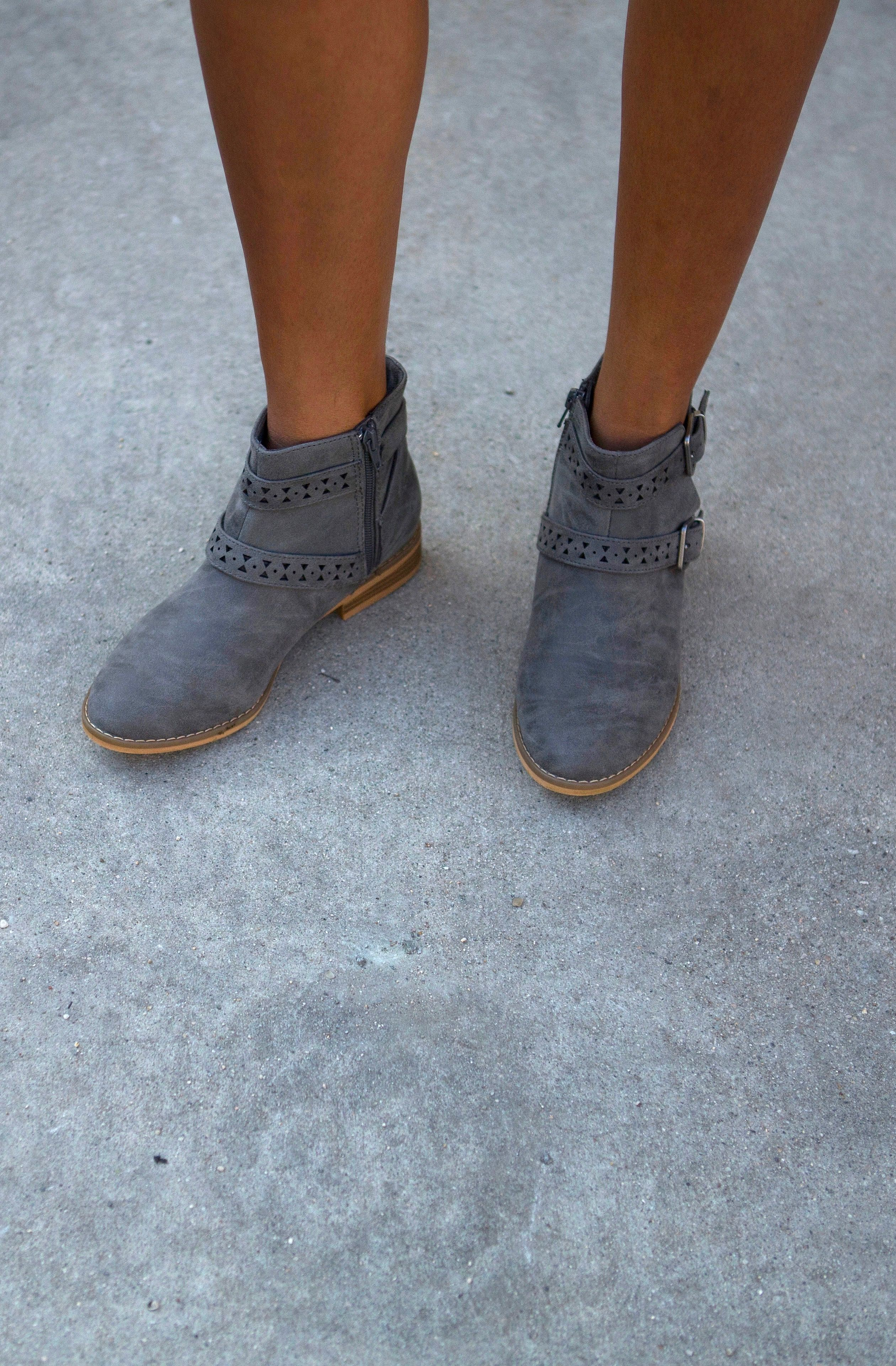 8d4e5614f3f Strap into the Mack boot in Grey and work that Coachella look all season  long. With embellished straps that wrap up the top