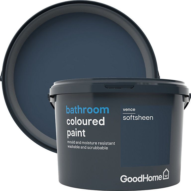 Goodhome Bathroom Vence Soft Sheen Emulsion Paint 2 5l Diy At B Q Soft Sheen Mold In Bathroom Cleaning Mold