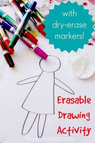 Erasable Drawing Activity- Happy Hooligans