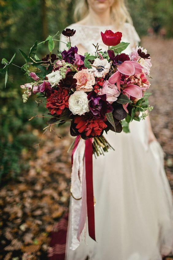 Hannah S Inspiration Red Bouquet Wedding Fall Wedding Bouquets Wedding Bouquets