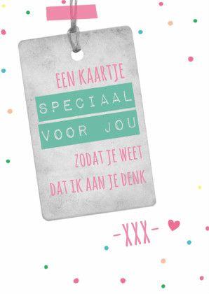 Speciaal voor jou, liefs - Zomaar kaarten | Kaartje2go #knuffelvoorjou