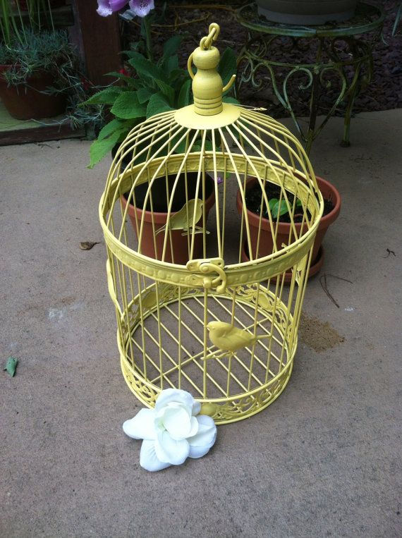 shabby chic birdcage pale yellow birdcage by shabbytochicsisters rh co pinterest com