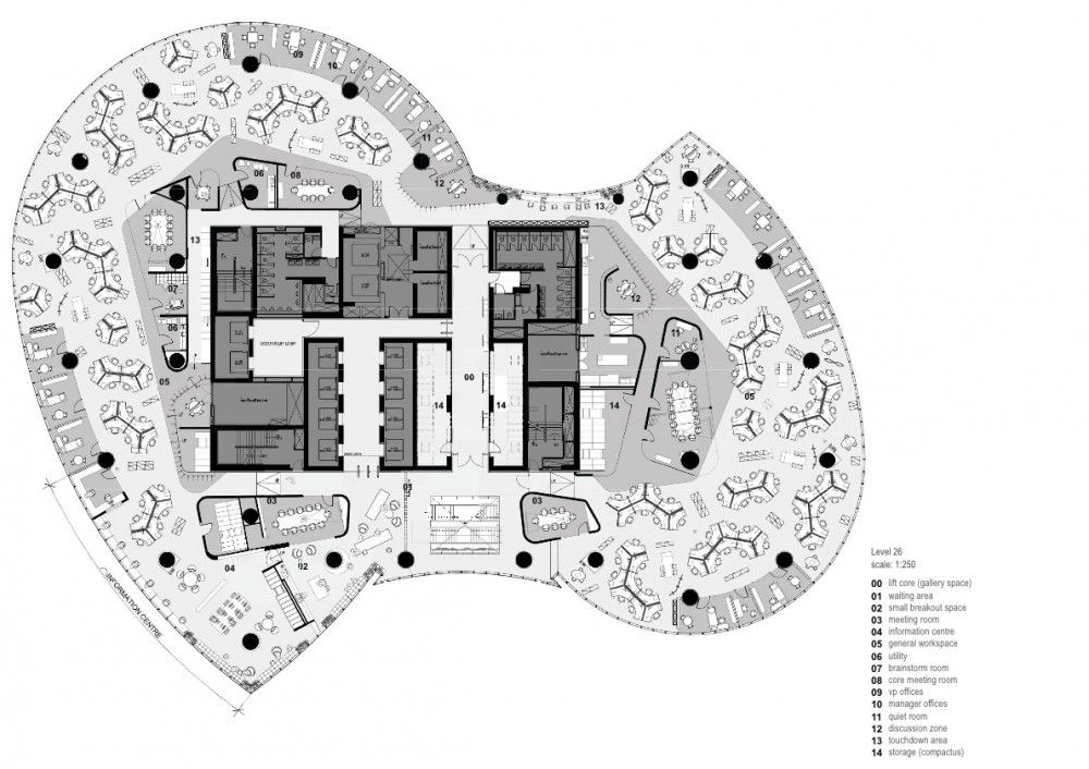 PTTEP Headquarters / Hassell | How to plan, Office layout ...