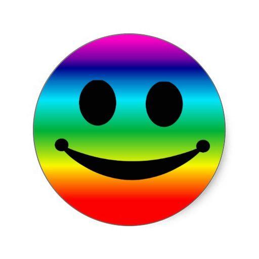 Rainbow Smiley Stickers