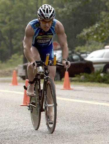 Tom Demerly at Ann Arbor Triathlon.