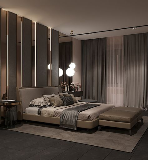 bedroom in contemporary style on behance int rieur in 2019 rh pinterest com