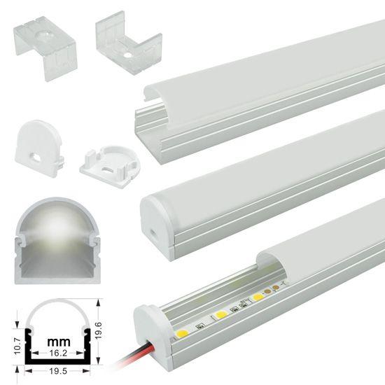 Surface Mount Anodized Aluminum LED Profile Housing - MICRO-ALU - led leisten küche