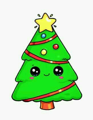 Drawsocute By Wennie It S A Xmas Tree Art In 2019 Cute Drawings Kawaii Drawings Kawaii