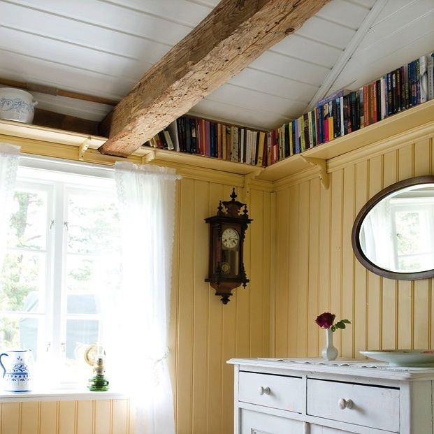 Ceiling Bookshelf take advantage of tall ceilingsinstalling a lofted bookshelf