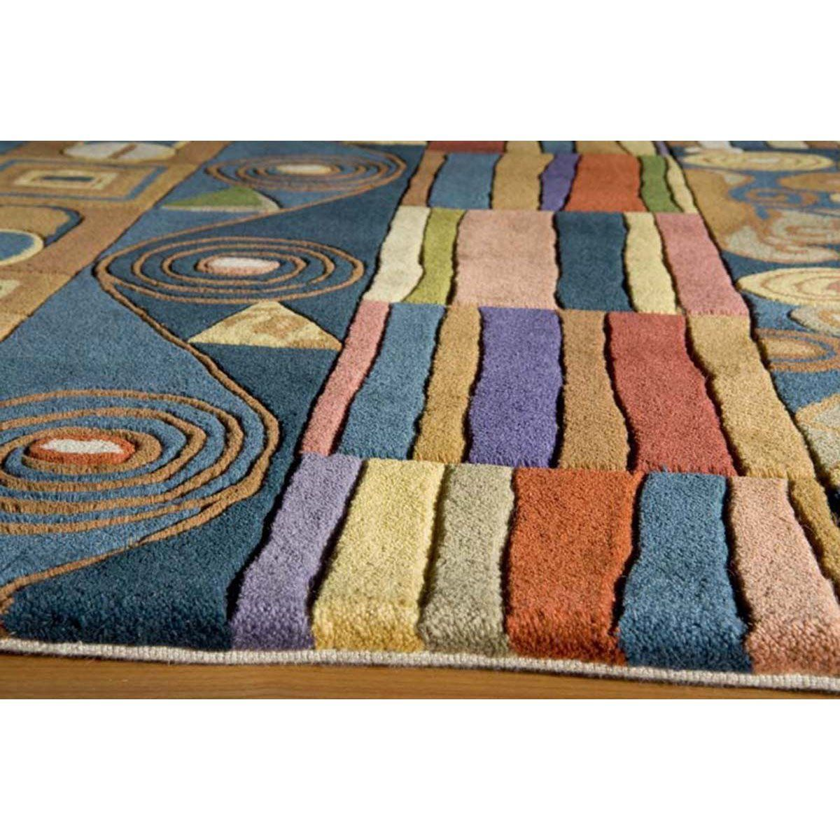 momeni rug hand tufted blue newwanw 02blu in 2018 products rugs rh pinterest ca