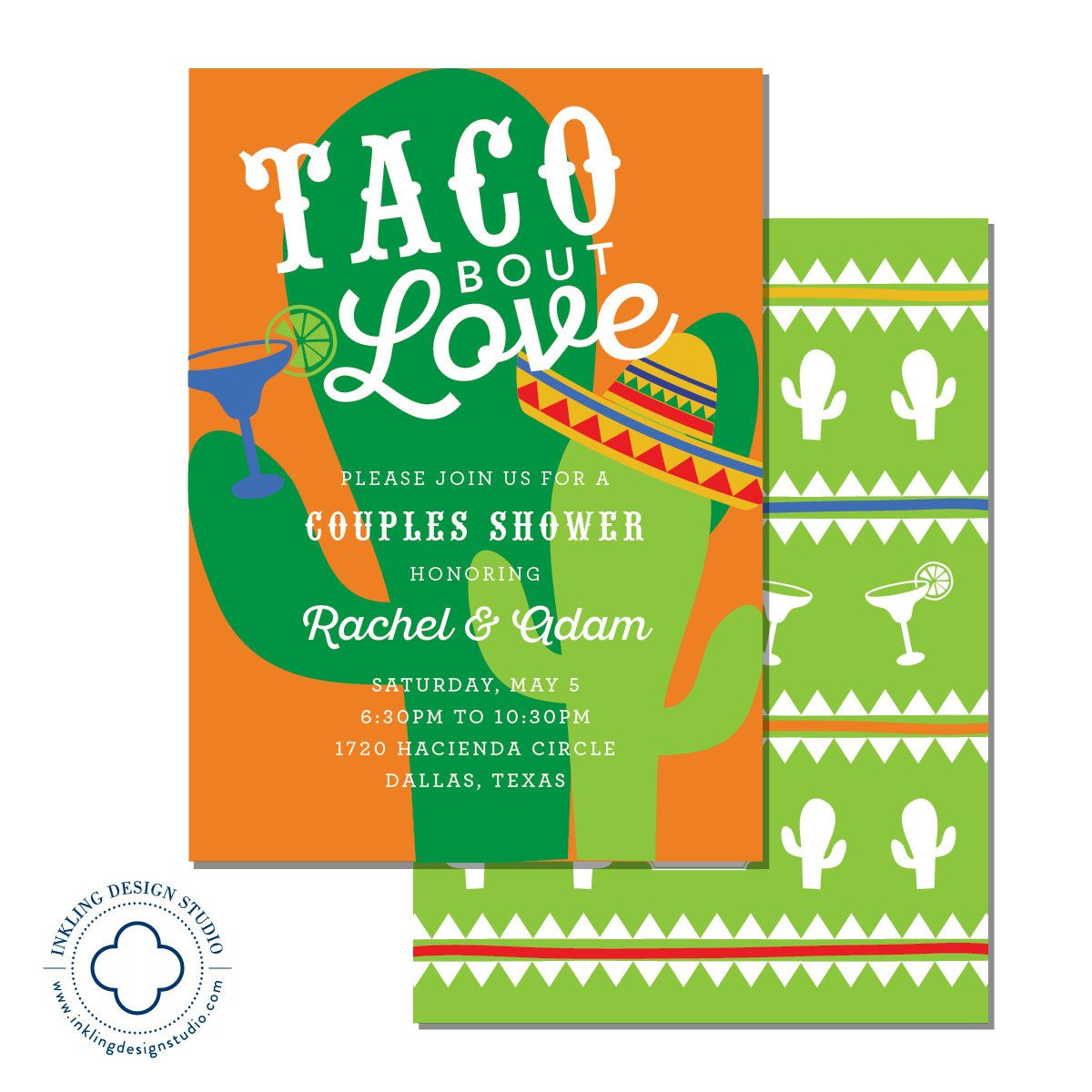Taco Bout Love Invitation | Wedding Party, Engagement Party, Couples ...