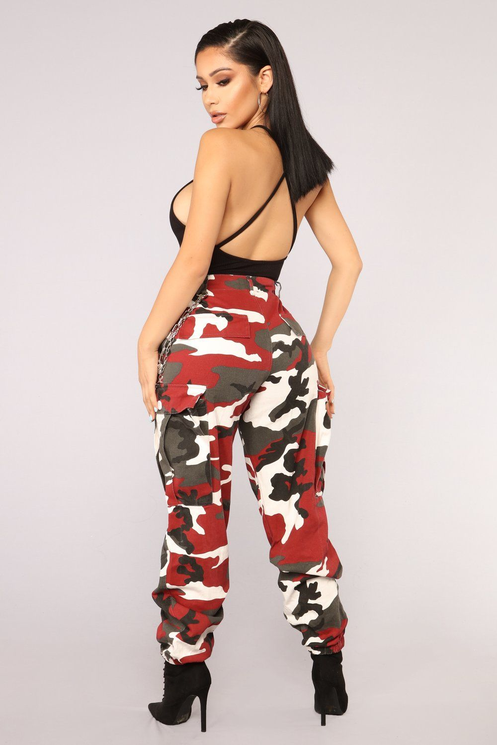 Cadet Kristy Camo Pants Red Fashion, Fashion nova