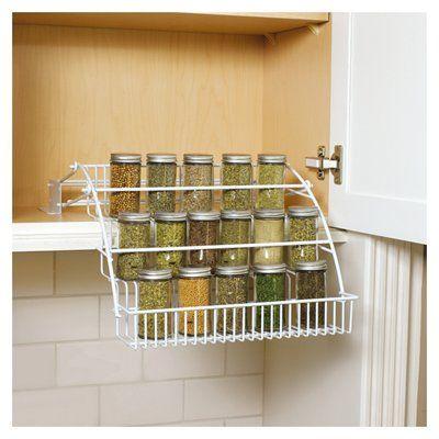 rubbermaid white cabinet mount pull down spice rack lowes 19 97 rh pinterest com au