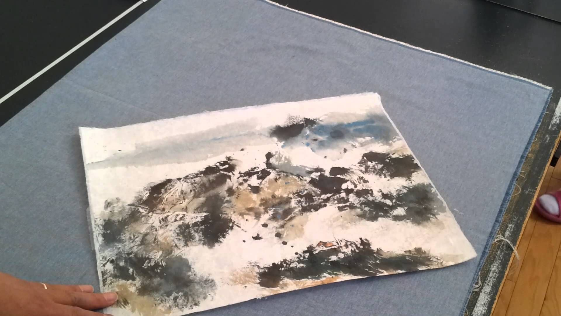 Texture How To Flatten Crinkled Rice Paper Painting With