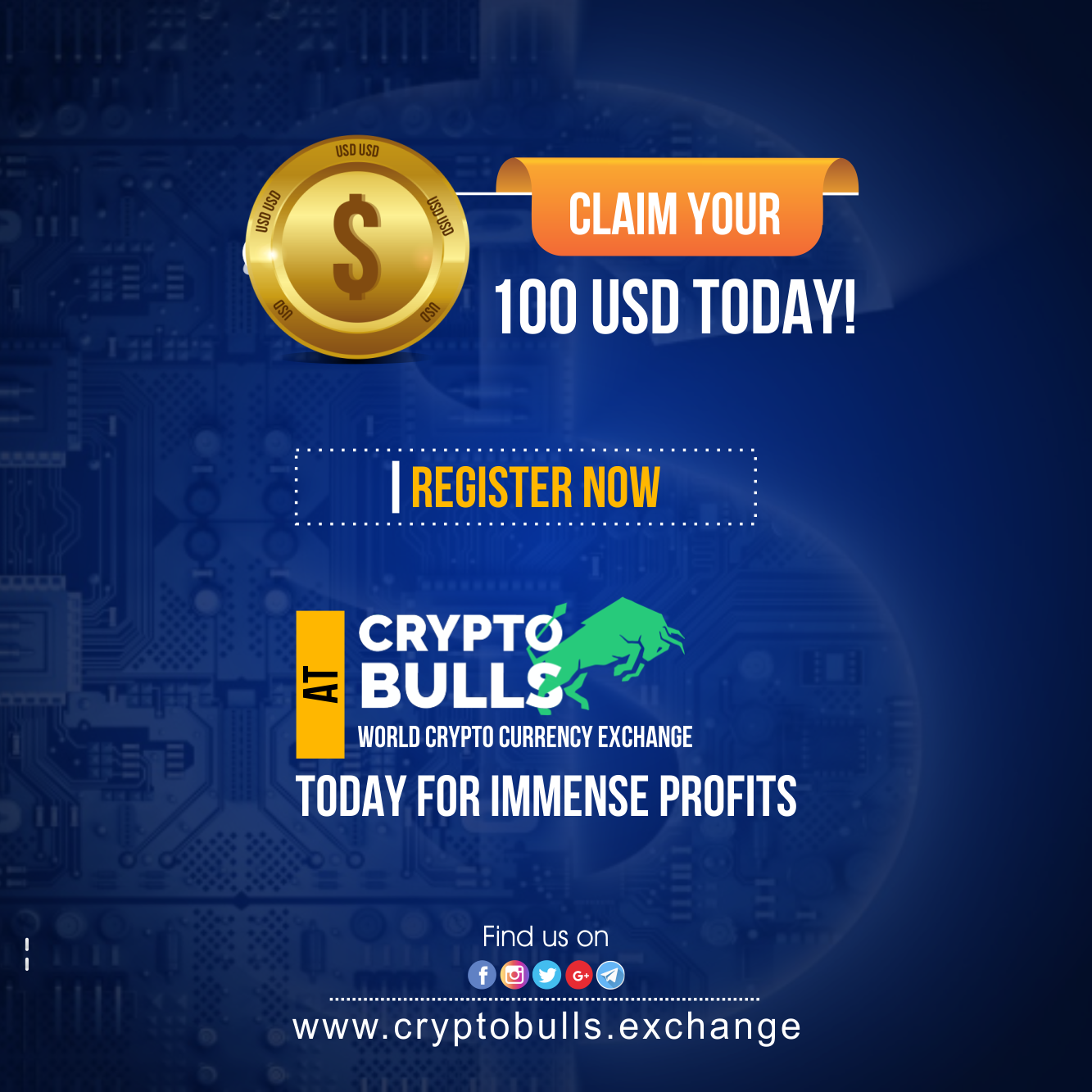 register a cryptocurrency