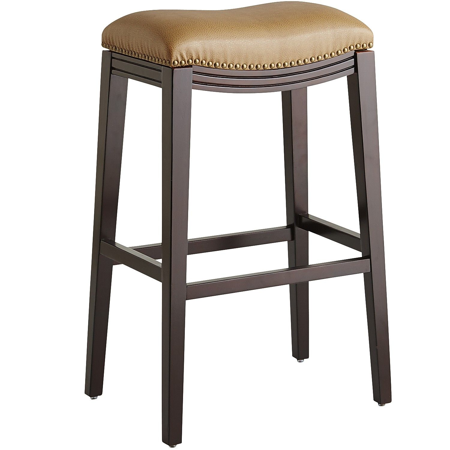 Halsted Backless Bar Stool Brown Birch Backless Bar Stools