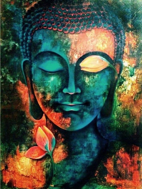 Buy Any 2 Fabric Block Listings Get A 3rd Free Just Let Me Know Your Choice Of Freebie After Che Buddha Art Painting Buddha Canvas Canvas Art Painting