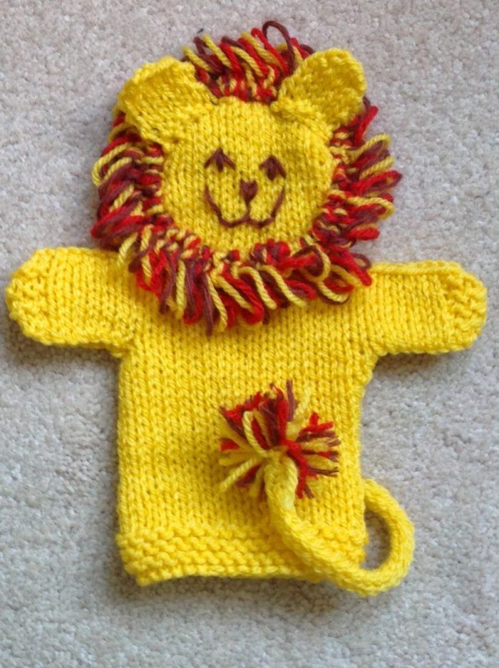 Free Knitting Pattern For Lion Hand Puppet Knit In Dk Yarn