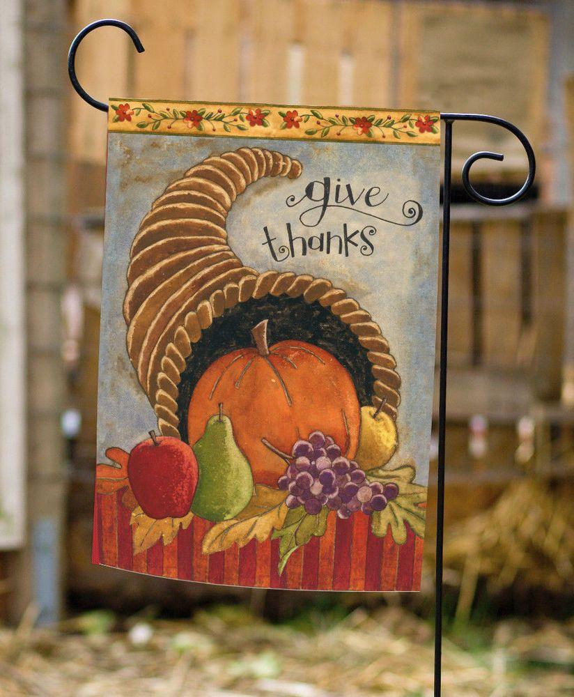 NEW Toland - Delicious Cornucopia - Fall Autumn Give Thanks Harvest ...