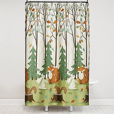 The Saturday Knight 13 Piece Fall Friends Shower Curtain And Hook Set Creates A Colorful Joyous Backdrop For Your Themed Bathroom Dcor