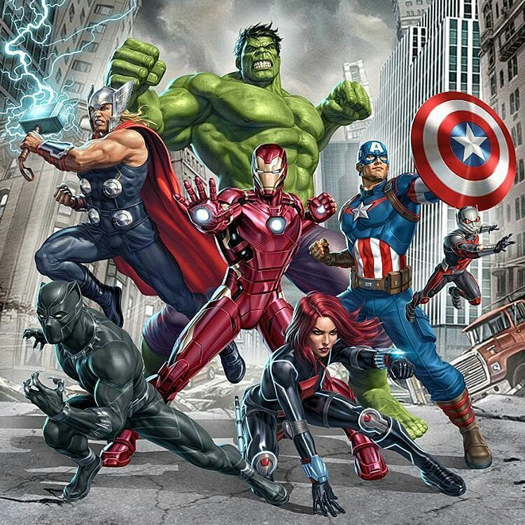 The Avengers Thor Black Panther The Incredible Hulk Iron