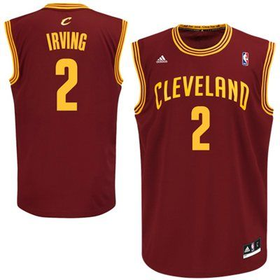 9fe76ad1 Youth Cleveland Cavaliers Kyrie Irving adidas Wine Replica Road Jersey
