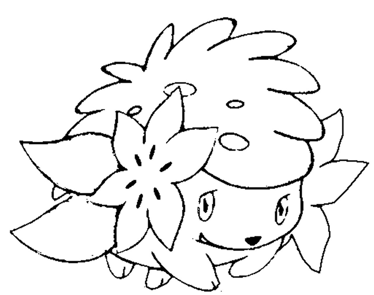 Pokemon Shaymin Coloring Page Pokemon Coloring Pages Disney