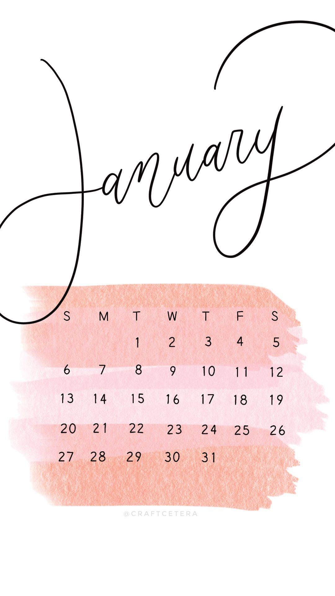 Free January 2019 Wallpaper | Kalender, Objek gambar ...