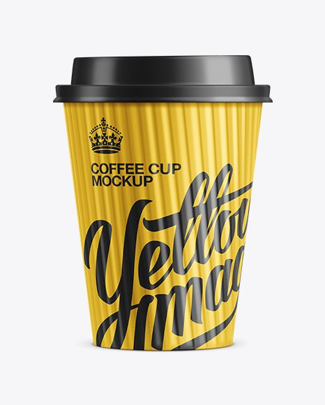 Paper Coffee Cup Mockup In Cup Bowl Mockups On Yellow Images Object Mockups Paper Coffee Cup Mockup Free Psd Free Mockup