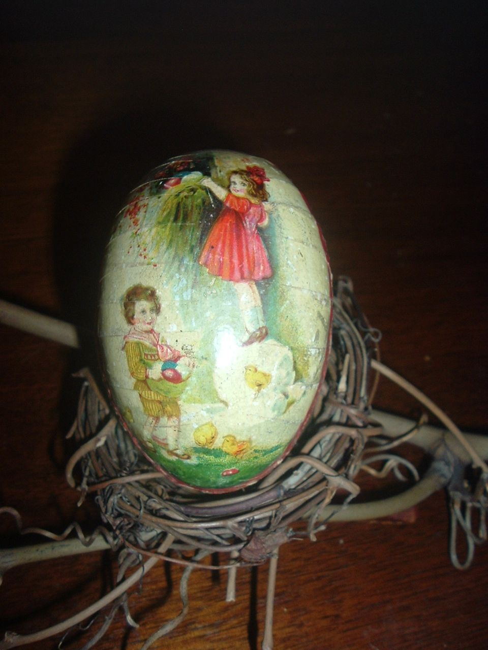 German Egg Candy Container
