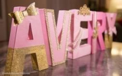 Best baby shower pink and gold letters 35 ideas images