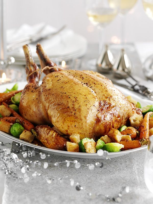 Photo of Capon cooked in spiced mead wine with roasted carrots, sprouts and croutons