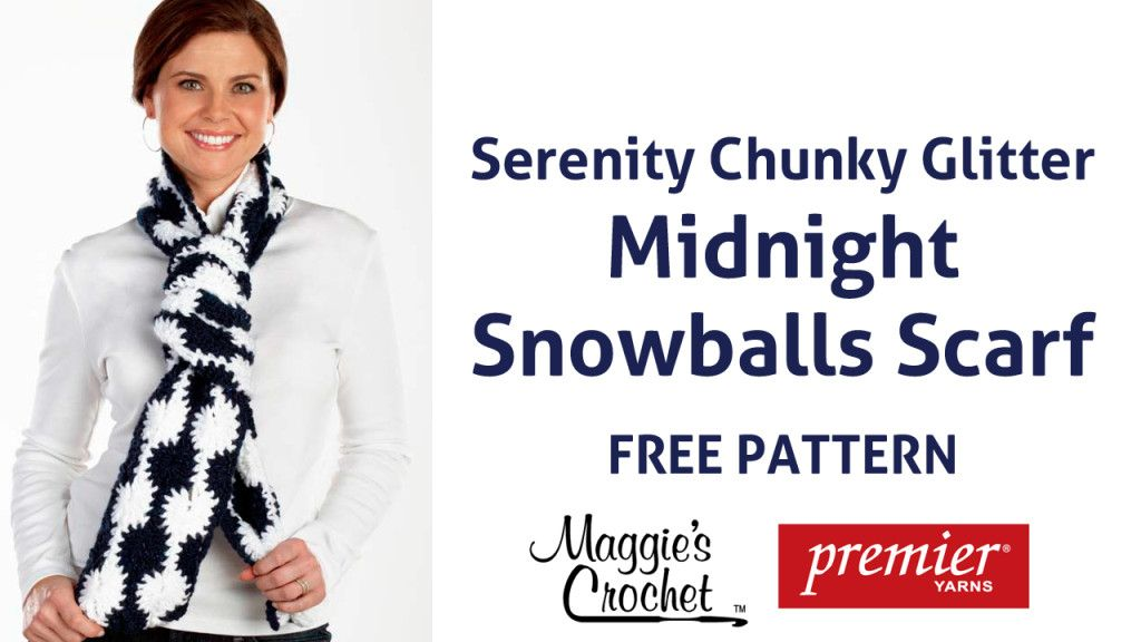 Click here for the Right-Handed Midnight Snowballs Scarf Pattern ...